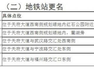 成都地铁1号线三期5个站拟更名 西博城站经5次调整