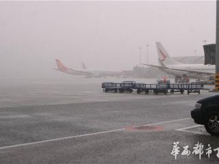 """成都机场""""叕""""遭强降雨 2.5小时降雨量达64毫米 32个出港航班延误"""