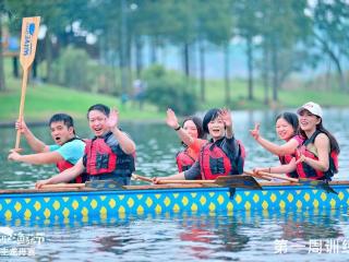 一场龙舟大赛,掀起了整个社区的节日狂欢