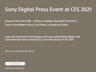 CES 2021将采用全数字化形式,索尼公布在线发布平台Sony Square