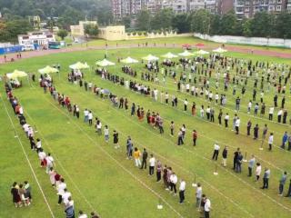 健全防控机制 大邑县青霞街道实战演练大规模人群核酸检测