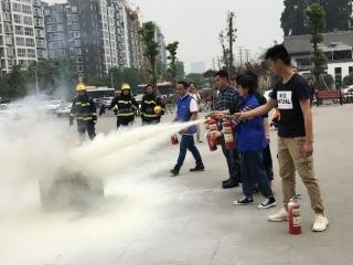 金象花园社区开展消防实操演练