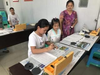 社区公益书法培训丰富少儿暑期生活