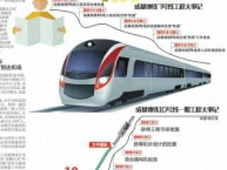 10号线一期9月开通 15分钟可达双流机场 成都将进入地铁6线时代