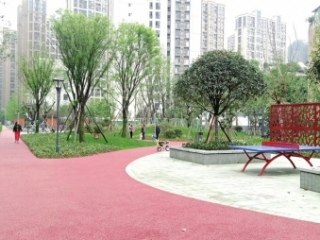成都市首个棚改建公园成华柳林游园投入使用